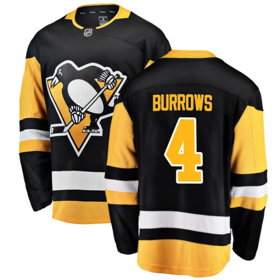 Dave Burrows Pittsburgh Penguins Youth Breakaway Home Fanatics Branded Jersey - Black