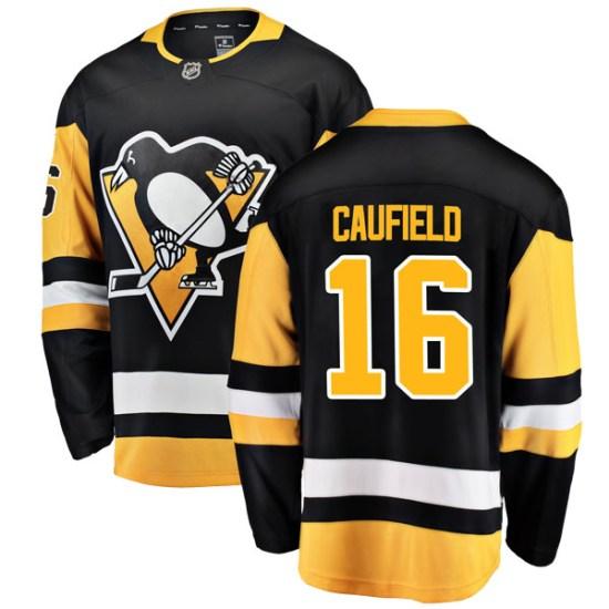 Jay Caufield Pittsburgh Penguins Youth Breakaway Home Fanatics Branded Jersey - Black