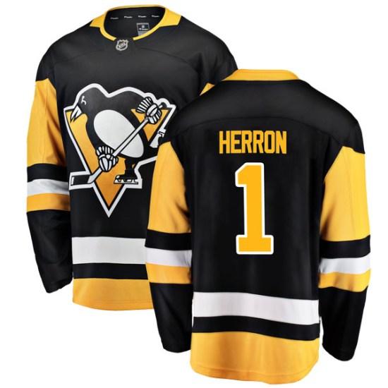 Denis Herron Pittsburgh Penguins Youth Breakaway Home Fanatics Branded Jersey - Black