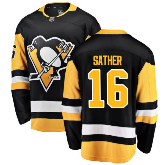 Glen Sather Pittsburgh Penguins Youth Breakaway Home Fanatics Branded Jersey - Black