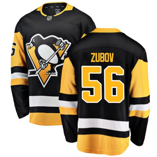 Sergei Zubov Pittsburgh Penguins Youth Breakaway Home Fanatics Branded Jersey - Black