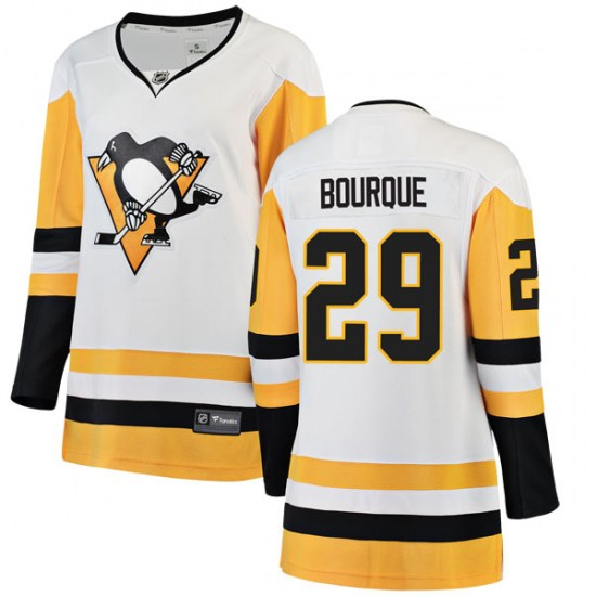 Phil Bourque Pittsburgh Penguins Women's Breakaway Away Fanatics Branded Jersey - White