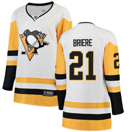 Michel Briere Pittsburgh Penguins Women's Breakaway Away Fanatics Branded Jersey - White