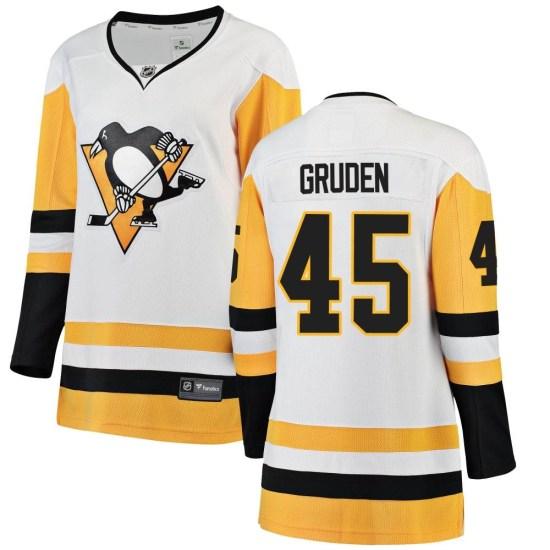 Jonathan Gruden Pittsburgh Penguins Women's Breakaway Away Fanatics Branded Jersey - White