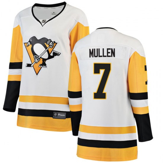 Joe Mullen Pittsburgh Penguins Women's Breakaway Away Fanatics Branded Jersey - White