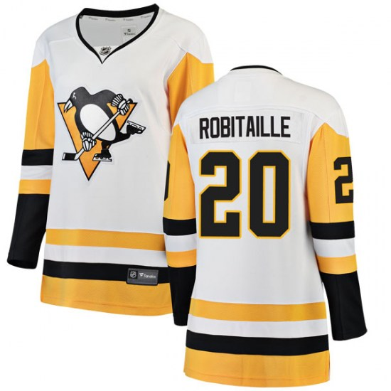 Luc Robitaille Pittsburgh Penguins Women's Breakaway Away Fanatics Branded Jersey - White