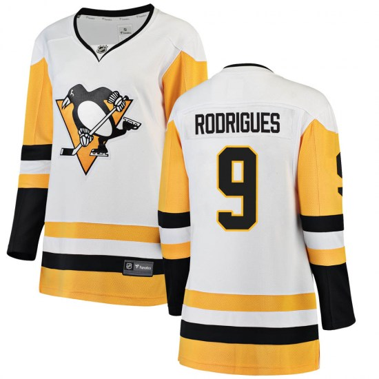 Evan Rodrigues Pittsburgh Penguins Women's Breakaway ized Away Fanatics Branded Jersey - White
