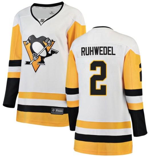 Chad Ruhwedel Pittsburgh Penguins Women's Breakaway Away Fanatics Branded Jersey - White