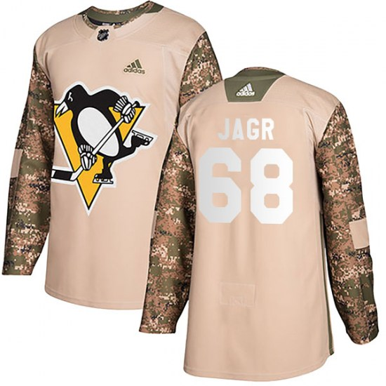 Jaromir Jagr Pittsburgh Penguins Youth Authentic Veterans Day Practice Adidas Jersey - Camo