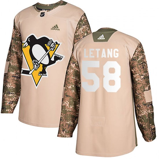 Kris Letang Pittsburgh Penguins Youth Authentic Veterans Day Practice Adidas Jersey - Camo