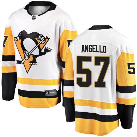 Anthony Angello Pittsburgh Penguins Breakaway Away Fanatics Branded Jersey - White