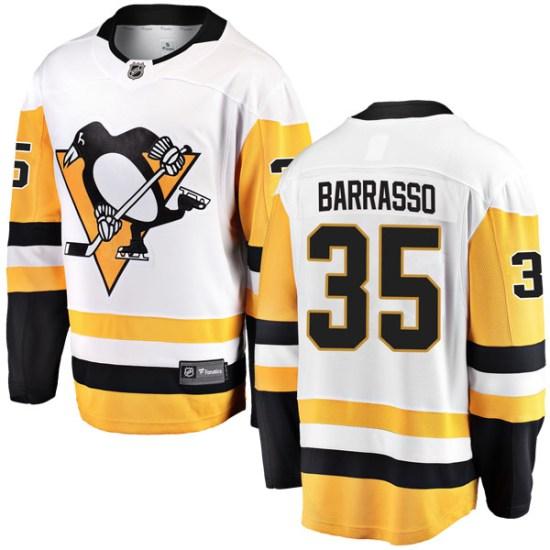 Tom Barrasso Pittsburgh Penguins Breakaway Away Fanatics Branded Jersey - White