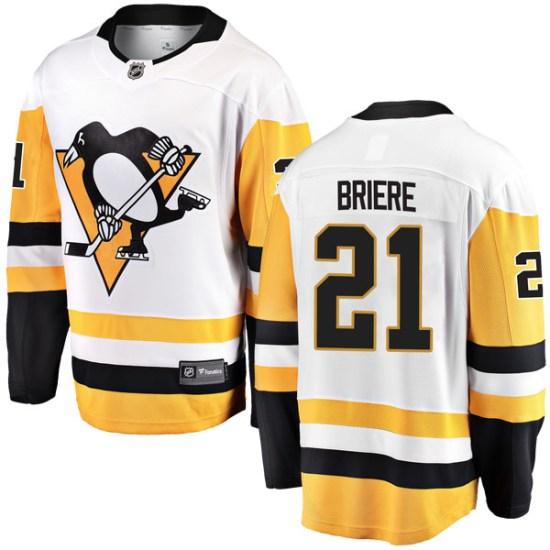 Michel Briere Pittsburgh Penguins Breakaway Away Fanatics Branded Jersey - White
