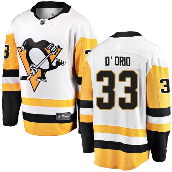 Alex Dorio Pittsburgh Penguins Breakaway Alex DOrio Away Fanatics Branded Jersey - White