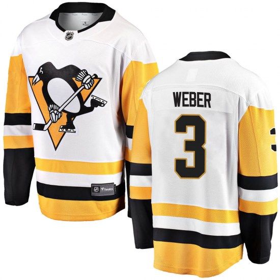 Yannick Weber Pittsburgh Penguins Breakaway Away Fanatics Branded Jersey - White