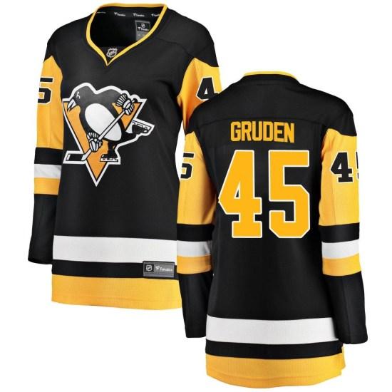 Jonathan Gruden Pittsburgh Penguins Women's Breakaway Home Fanatics Branded Jersey - Black
