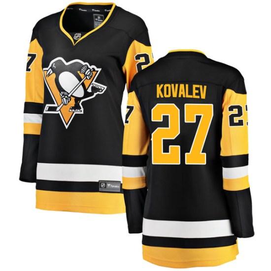 Alex Kovalev Pittsburgh Penguins Women's Breakaway Home Fanatics Branded Jersey - Black