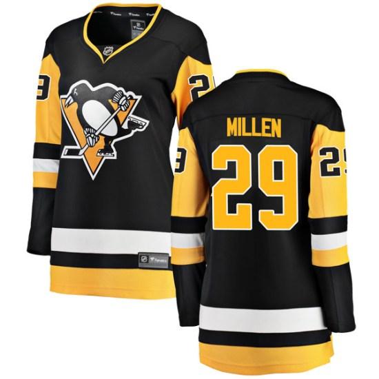 Greg Millen Pittsburgh Penguins Women's Breakaway Home Fanatics Branded Jersey - Black