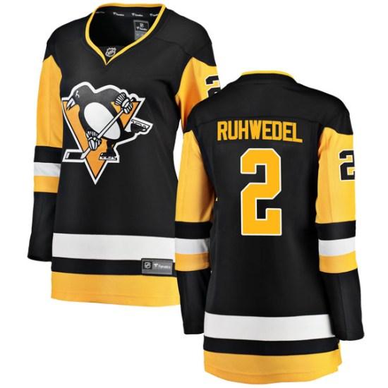 Chad Ruhwedel Pittsburgh Penguins Women's Breakaway Home Fanatics Branded Jersey - Black