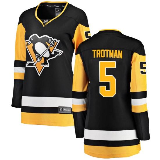 Zach Trotman Pittsburgh Penguins Women's Breakaway Home Fanatics Branded Jersey - Black