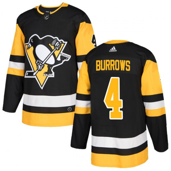 Dave Burrows Pittsburgh Penguins Authentic Home Adidas Jersey - Black