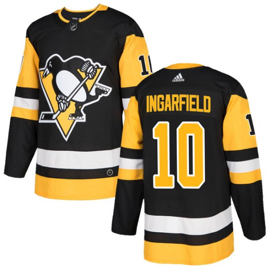 Earl Ingarfield Pittsburgh Penguins Authentic Home Adidas Jersey - Black