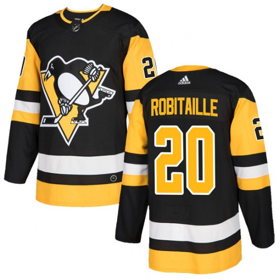 Luc Robitaille Pittsburgh Penguins Authentic Home Adidas Jersey - Black