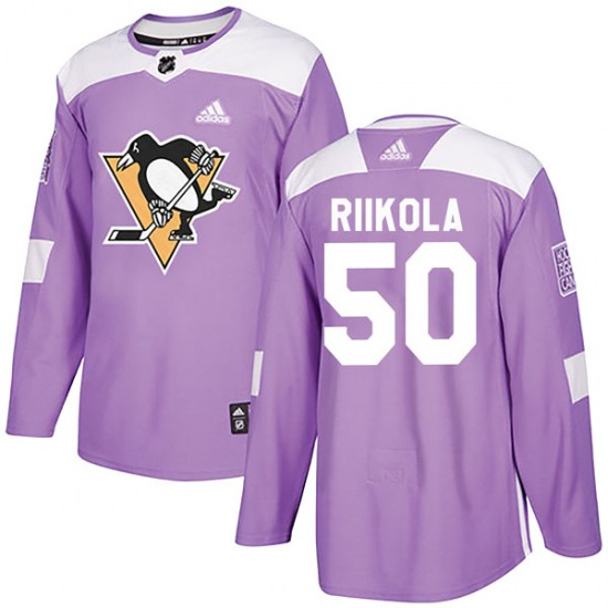 Juuso Riikola Pittsburgh Penguins Youth Authentic Fights Cancer Practice Adidas Jersey - Purple