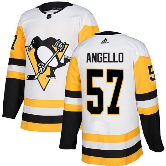 Anthony Angello Pittsburgh Penguins Authentic Away Adidas Jersey - White