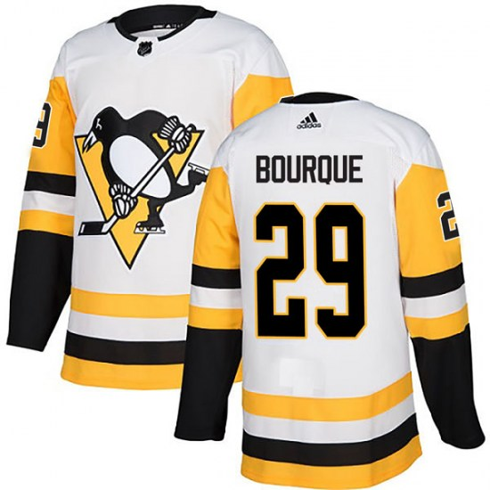 Phil Bourque Pittsburgh Penguins Authentic Away Adidas Jersey - White