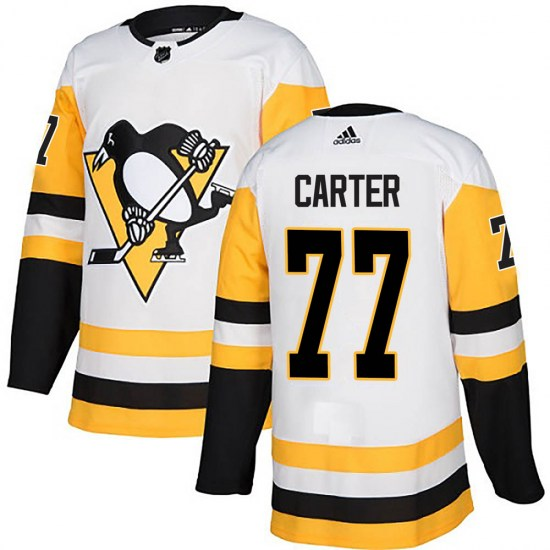 Jeff Carter Pittsburgh Penguins Authentic Away Adidas Jersey - White