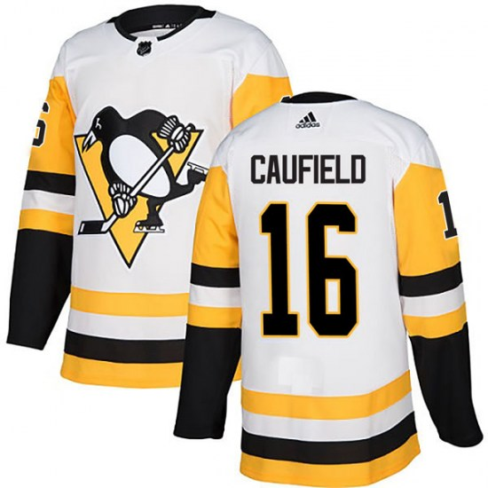 Jay Caufield Pittsburgh Penguins Authentic Away Adidas Jersey - White