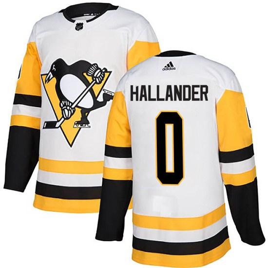 Filip Hallander Pittsburgh Penguins Authentic Away Adidas Jersey - White
