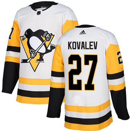 Alex Kovalev Pittsburgh Penguins Authentic Away Adidas Jersey - White