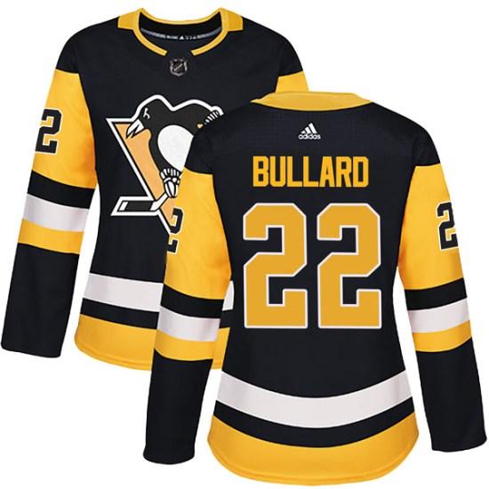 Mike Bullard Pittsburgh Penguins Women's Authentic Home Adidas Jersey - Black