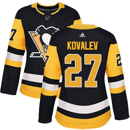 Alex Kovalev Pittsburgh Penguins Women's Authentic Home Adidas Jersey - Black