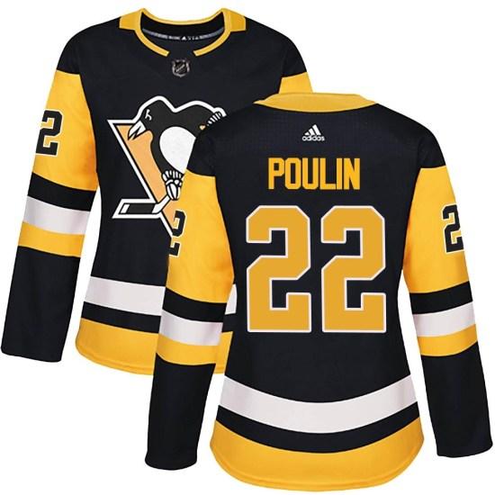 Samuel Poulin Pittsburgh Penguins Women's Authentic Home Adidas Jersey - Black